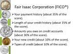 fair isaac corporation fico