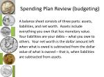 spending plan review budgeting2