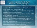 evaluation report by florida pe ra validation common errors 2