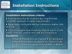 installation instructions1