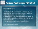revised applications fbc 2010