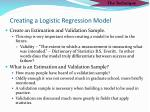 creating a logistic regression model
