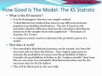how good is the model the ks statistic