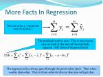 more facts in regression
