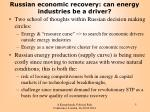 russian economic recovery can energy industries be a driver