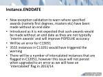 instance enddate