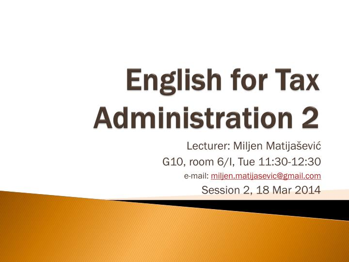 english for tax administration 2 n.