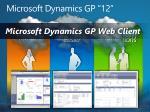 microsoft dynamics gp 12