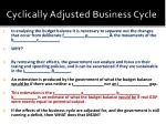cyclically adjusted business cycle