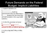 future demands on the federal budget implicit liabilities