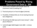 problems posed by rising government debt p 3001
