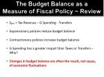 the budget balance as a measure of fiscal policy review