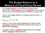 the budget balance as a measure of fiscal policy review2