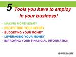 5 tools you have to employ in your business