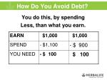 how do you avoid debt