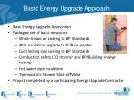 basic energy upgrade approach