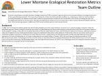 lower montane ecological restoration metrics team outline