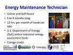 energy maintenance technician