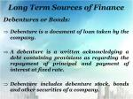long term sources of finance2