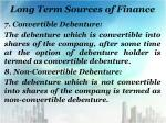 long term sources of finance6
