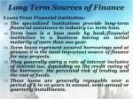 long term sources of finance7
