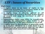 ltf issues of securities1