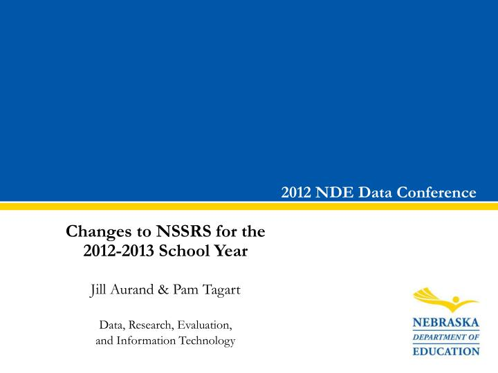 2012 nde data conference n.