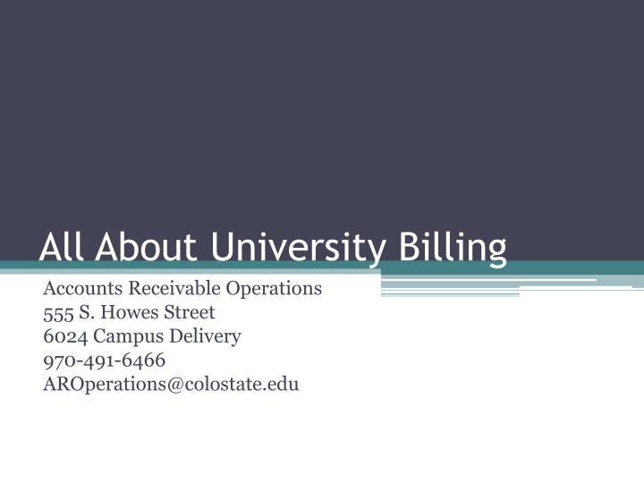 all about university billing n.