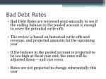 bad debt rates