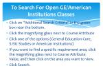 to search for open ge american institutions classes