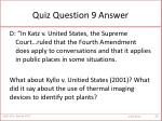 quiz question 9 answer