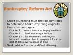 bankruptcy reform act