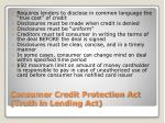 consumer credit protection act truth in lending act