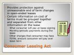 consumer leasing act