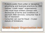 credit repair organization act