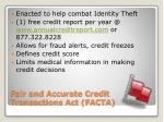fair and accurate credit transactions act facta