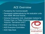 ace overview