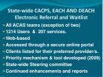 state wide cacps each and deach electronic referral and waitlist