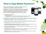 what is sage mobile payments