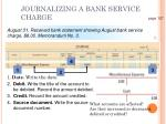 journalizing a bank service charge1