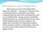 mycommerce is a part of digital river