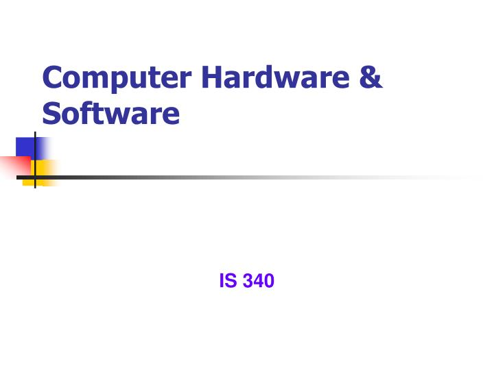computer hardware software n.