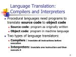 language translation compilers and interpreters