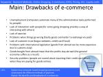 main drawbacks of e commerce