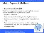 main payment methods