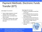 payment methods electronic funds transfer eft