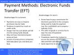 payment methods electronic funds transfer eft1