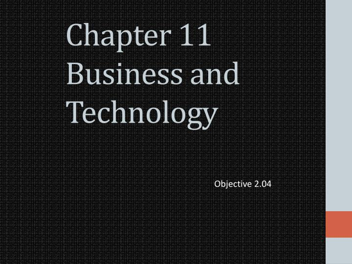 chapter 11 business and technology n.