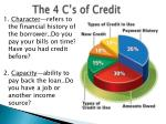 the 4 c s of credit