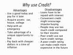 why use credit